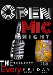 Check out the new open mic night every Friday from 7pm at The Gramercy DIFC.